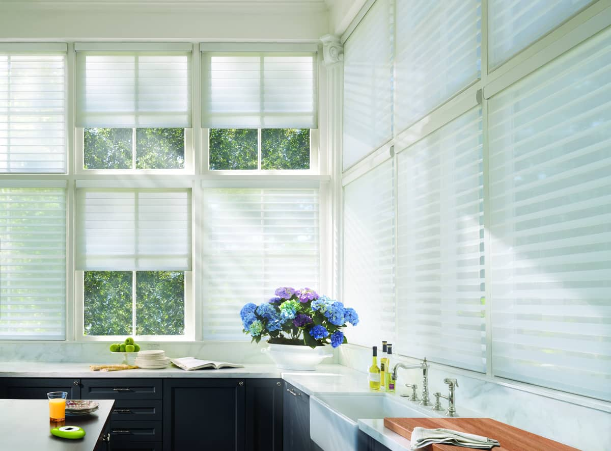 Integrating PowerView Motorization into Homes Near Carlsbad, California (CA) for Convenient Kitchen Operation with the Pebble