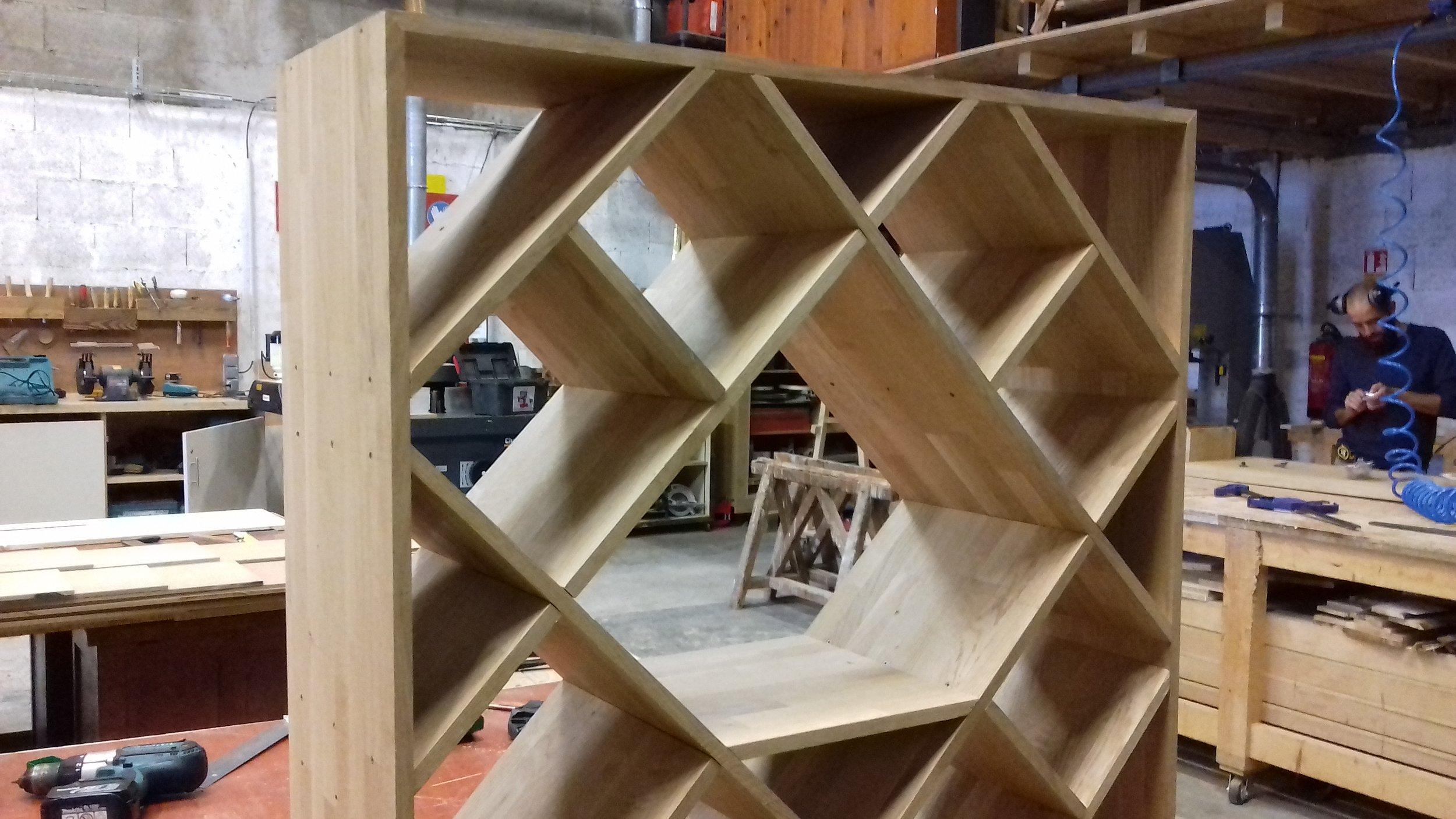 Module de cave à vin fabrication en chêne  par Simon.3.jpg