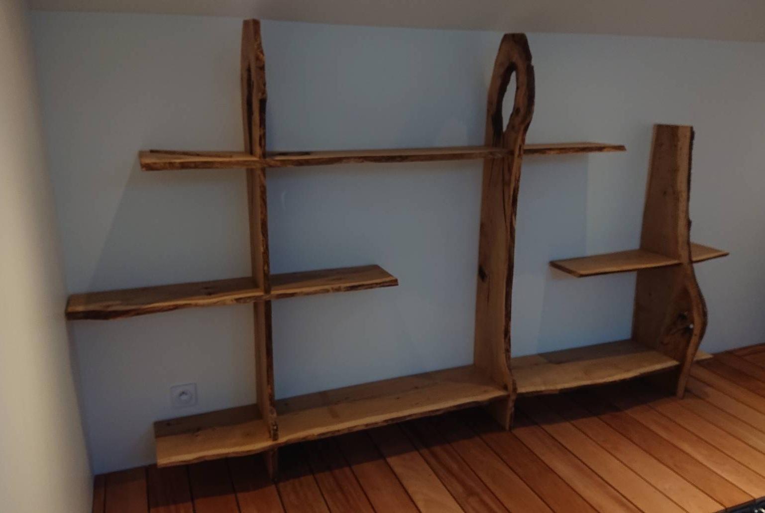 étagère bois brut mon atelier partagé menuiserie lyon