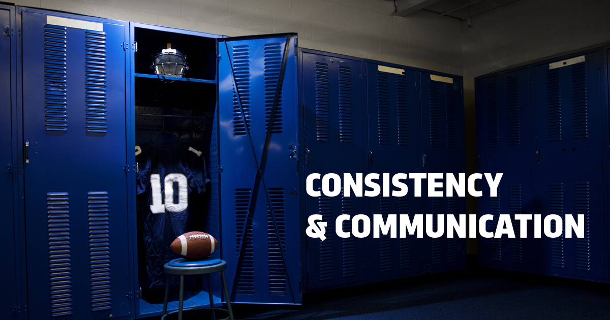 BOOK REVIEW: YOU WIN IN THE LOCKER ROOM FIRST--CONSISTENT COMMUNICATION