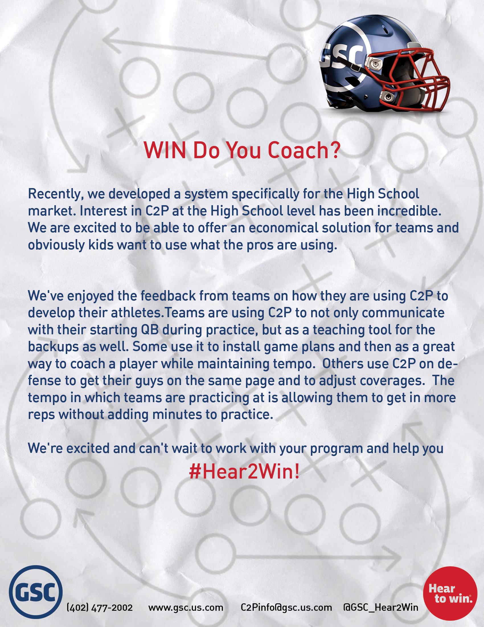 WIN Do You Coach?