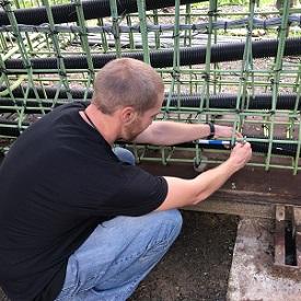 Girder instrumentation installation project
