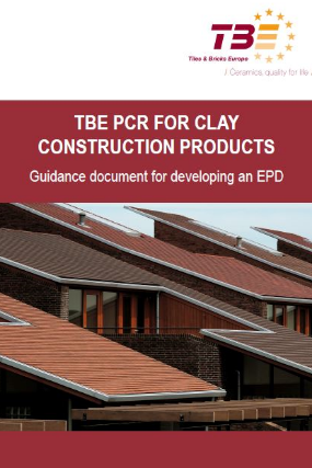 TBE PCR for clay construction products: Guidance document for developing an EPD (2014)