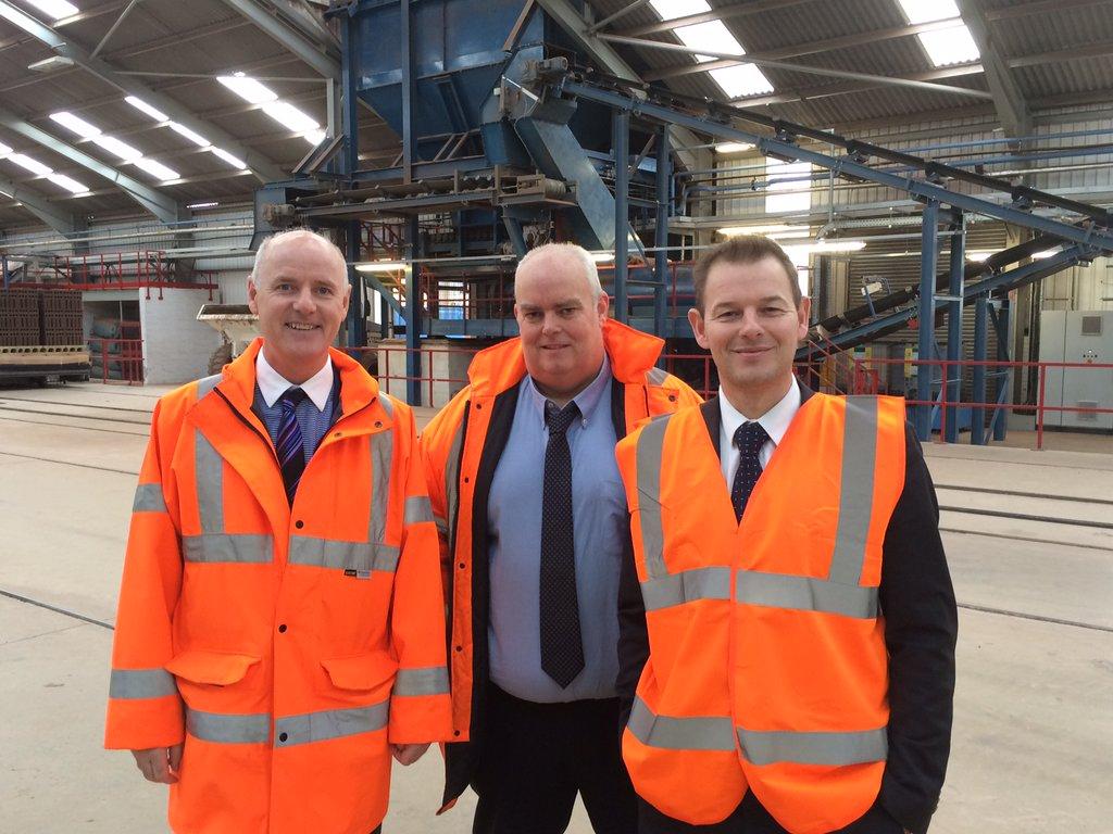 MEP Dan Dalton visits Ibstock Brick's Chesterton site