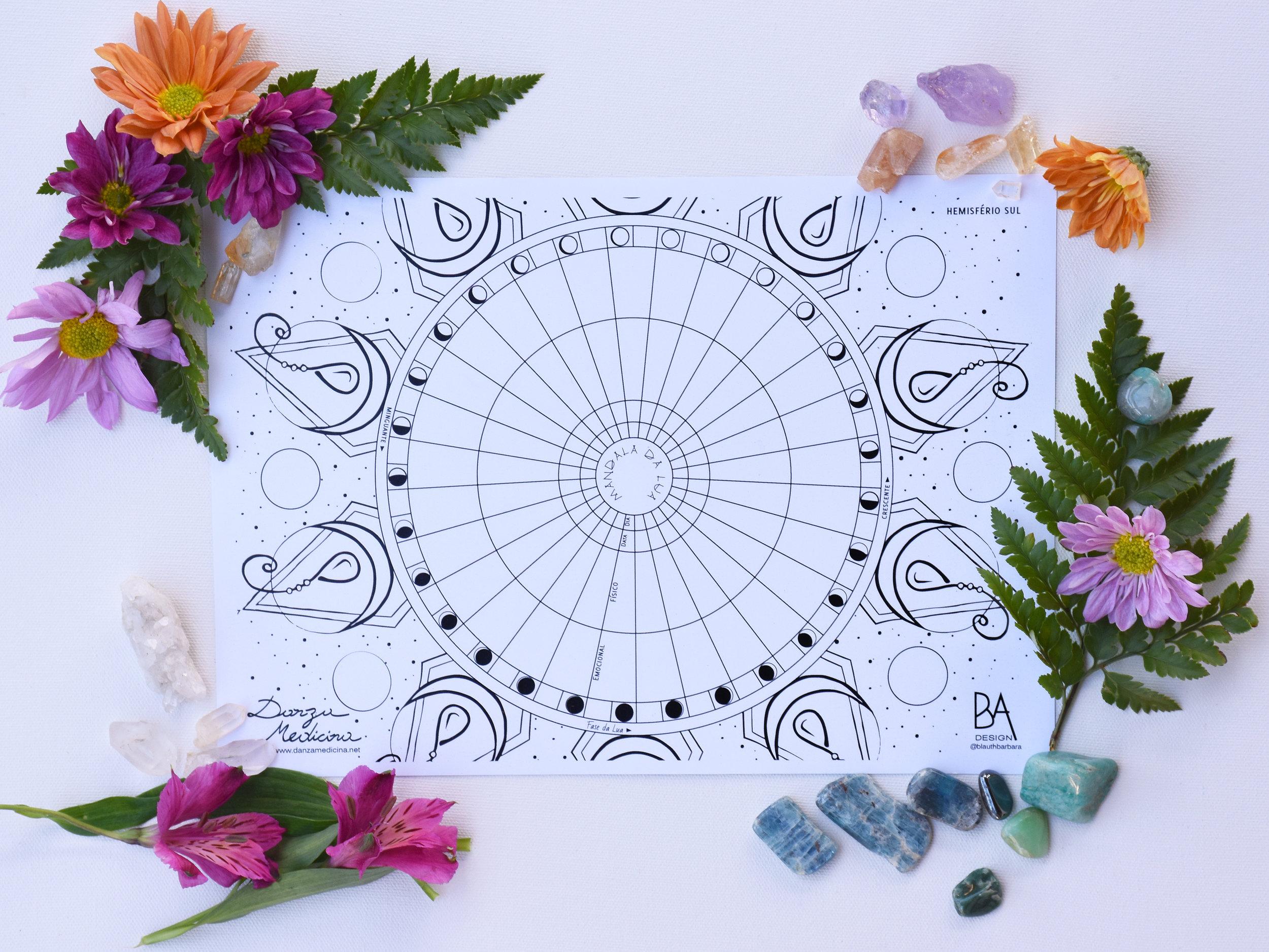 Mandala da Lua DanzaMedicina- por Barbara Blauth.