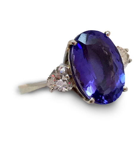 L'Armoire Platinum & Tanzanite Ring ($32,000)
