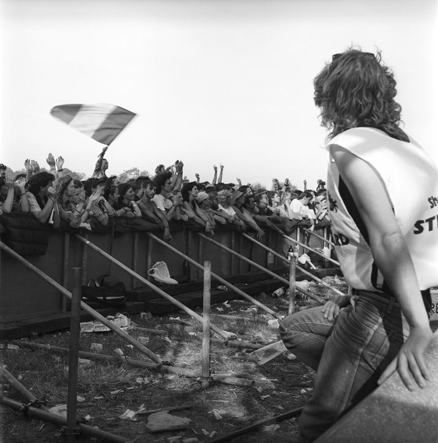 Pyramid Stage Crowd Glastonbury Festival 1989