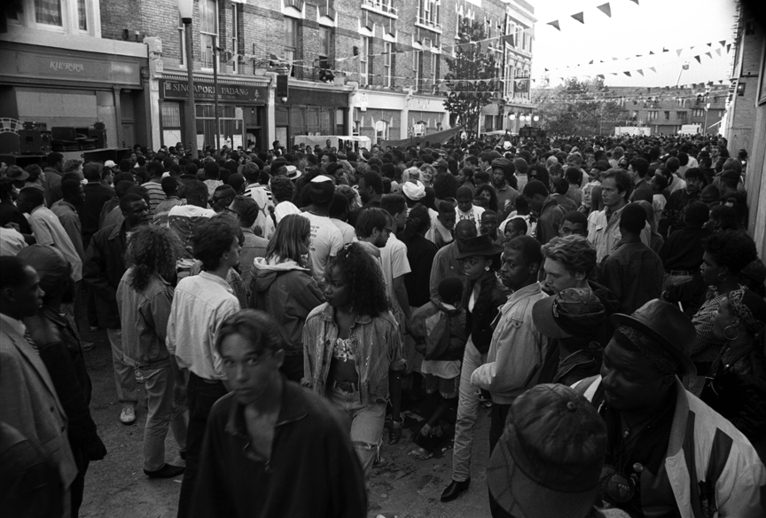 Crowd Notting Hill Carnival 1989