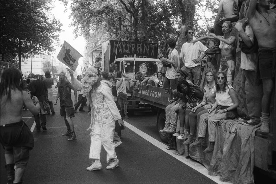 2nd Anti CJA March 24 July 94 Victoria Embankment rave