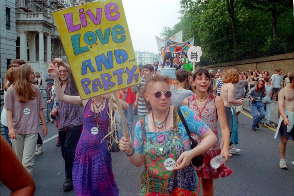 2nd Anti CJA march London 24 July 94