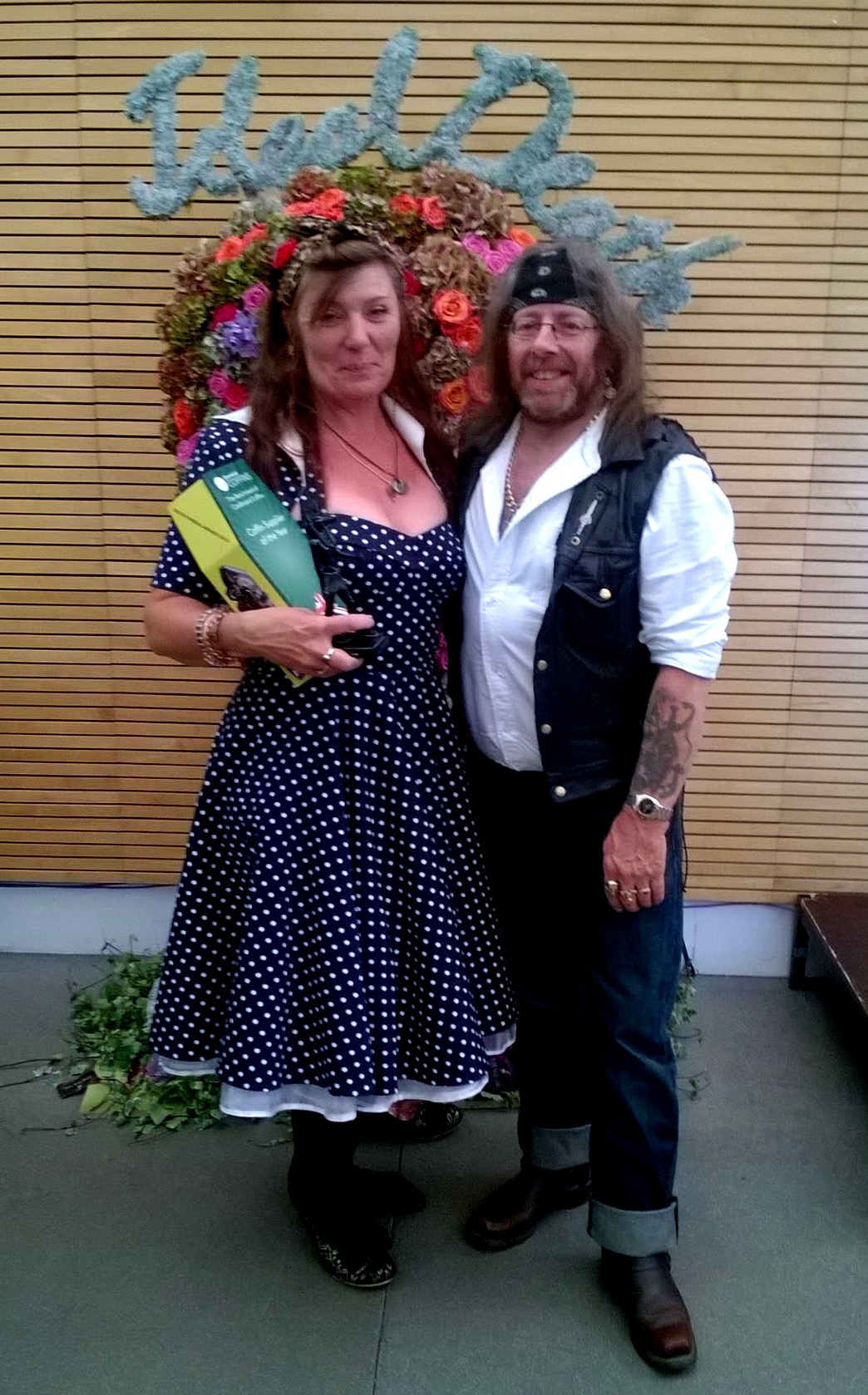 Cath and Tosh at the Good Funeral Awards, 2015.