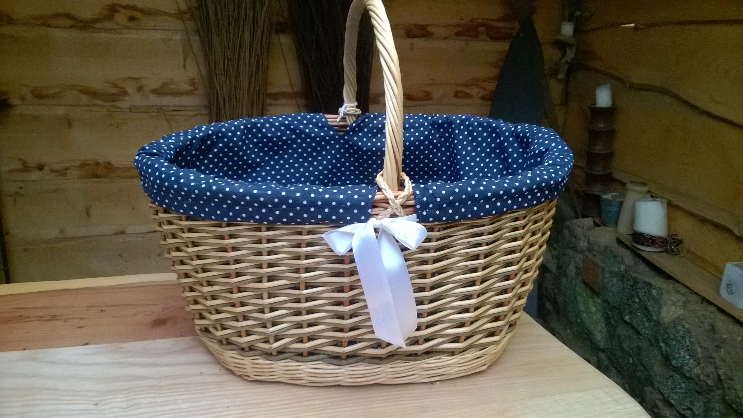 Lined Oval Storage Basket £40