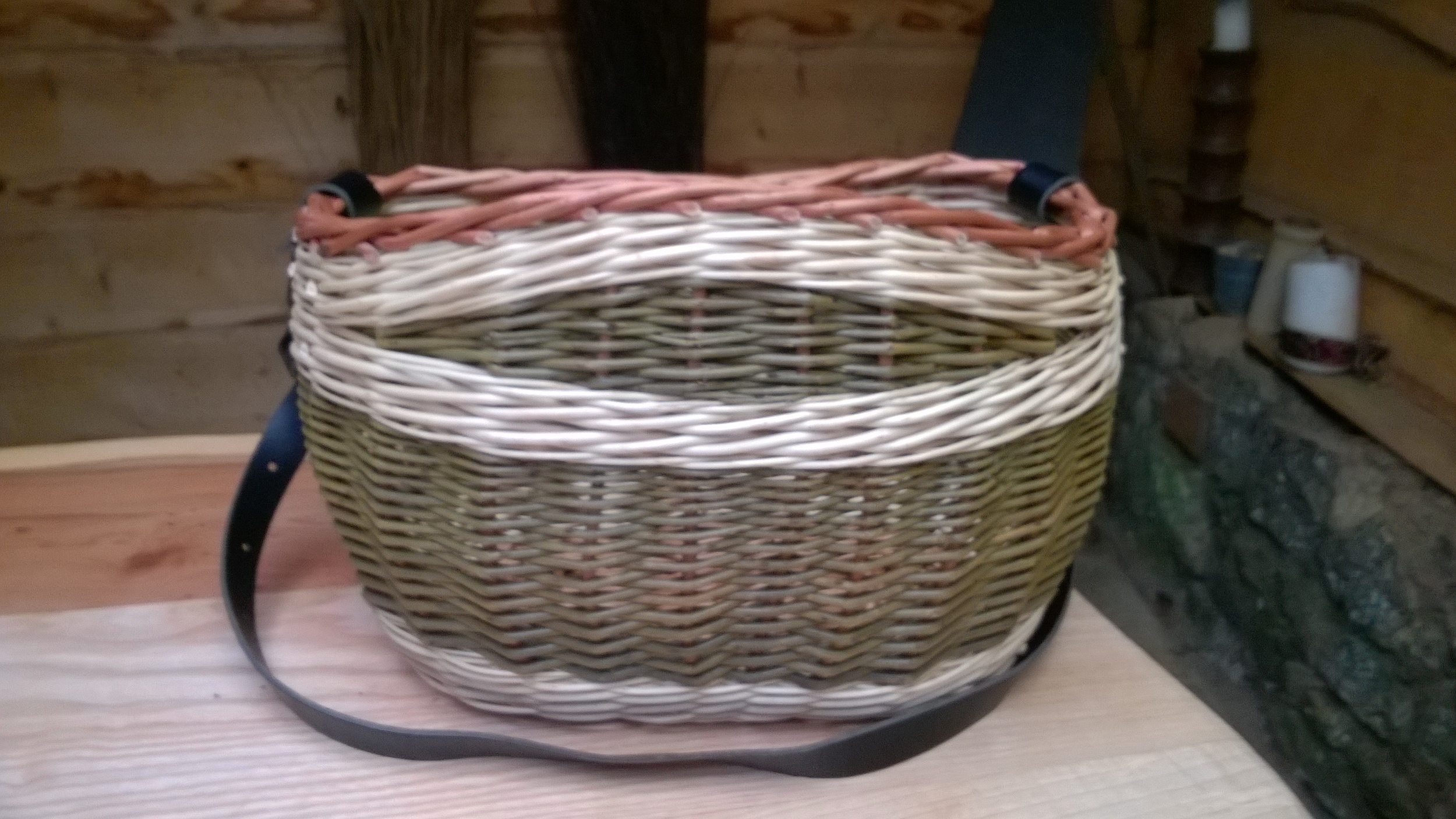 Field Basket With Leather Handle £45