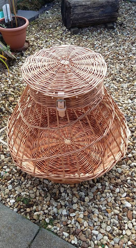 Chicken Basket £95 holds 3 large chooks or 5 bantams