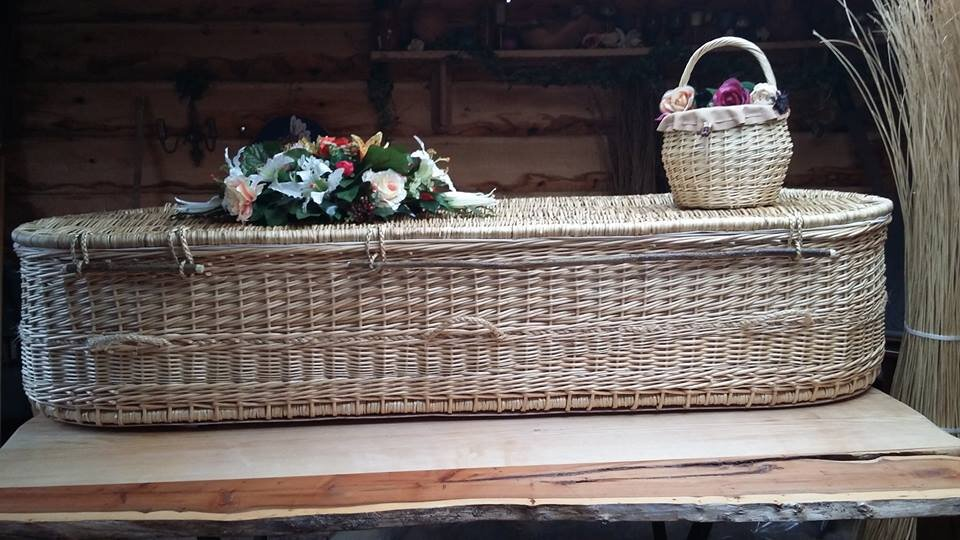 White Willow Round Double Ended coffin