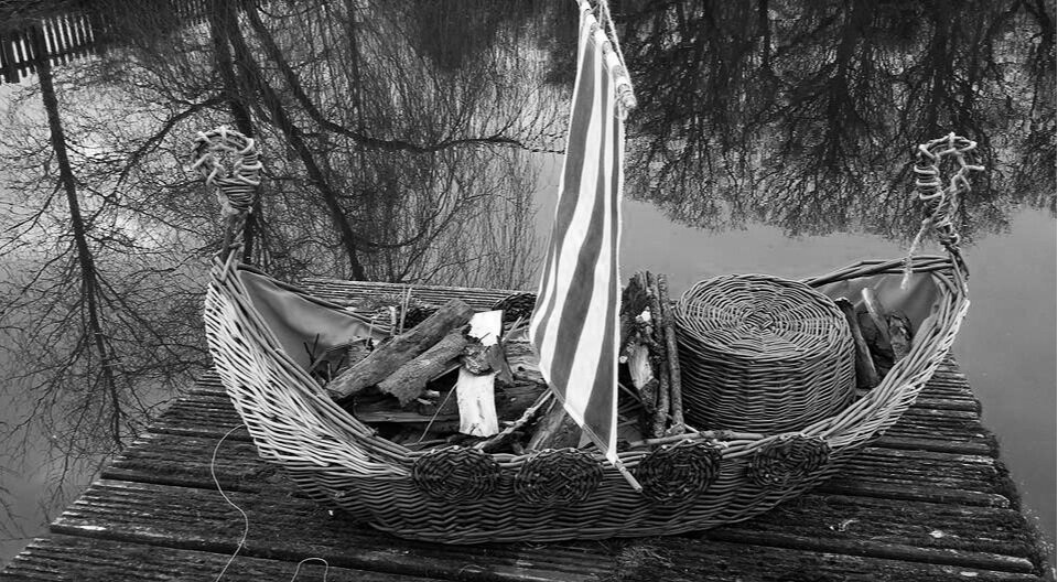filling up your viking fireship with kindling and logs