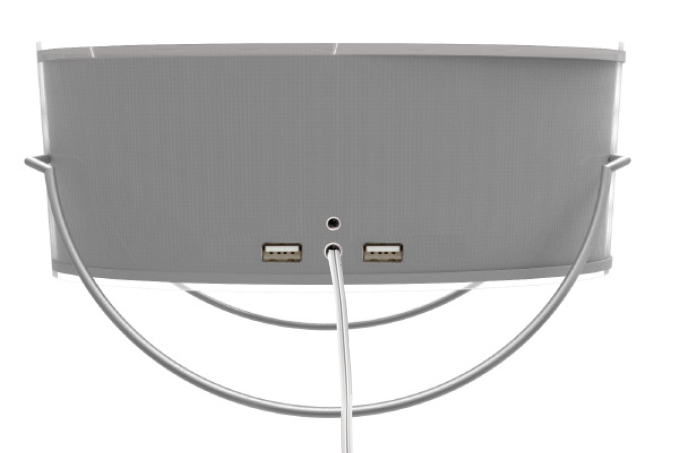 -Plugs into wall -Rechargeable options -2 USB 2.0 ports -Auxiliary Jack