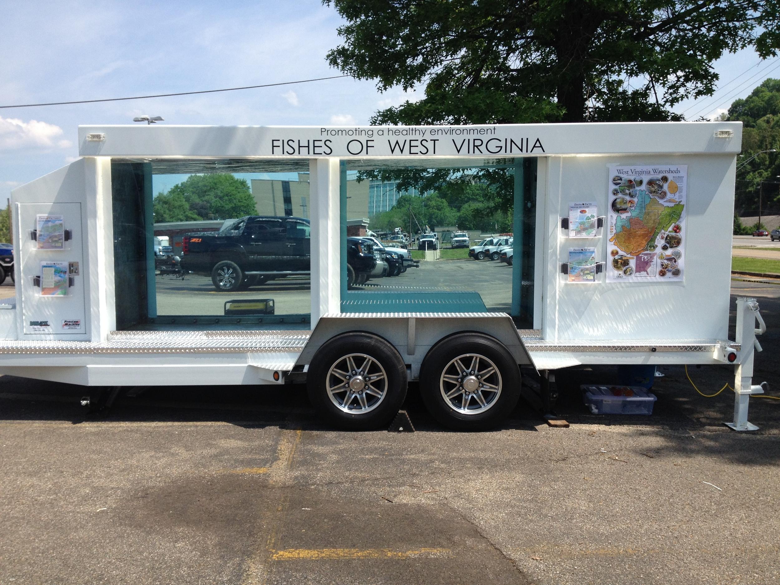 West Virginia DEP Mobile Aquarium  we built with our partner,  Preston Machine Inc .