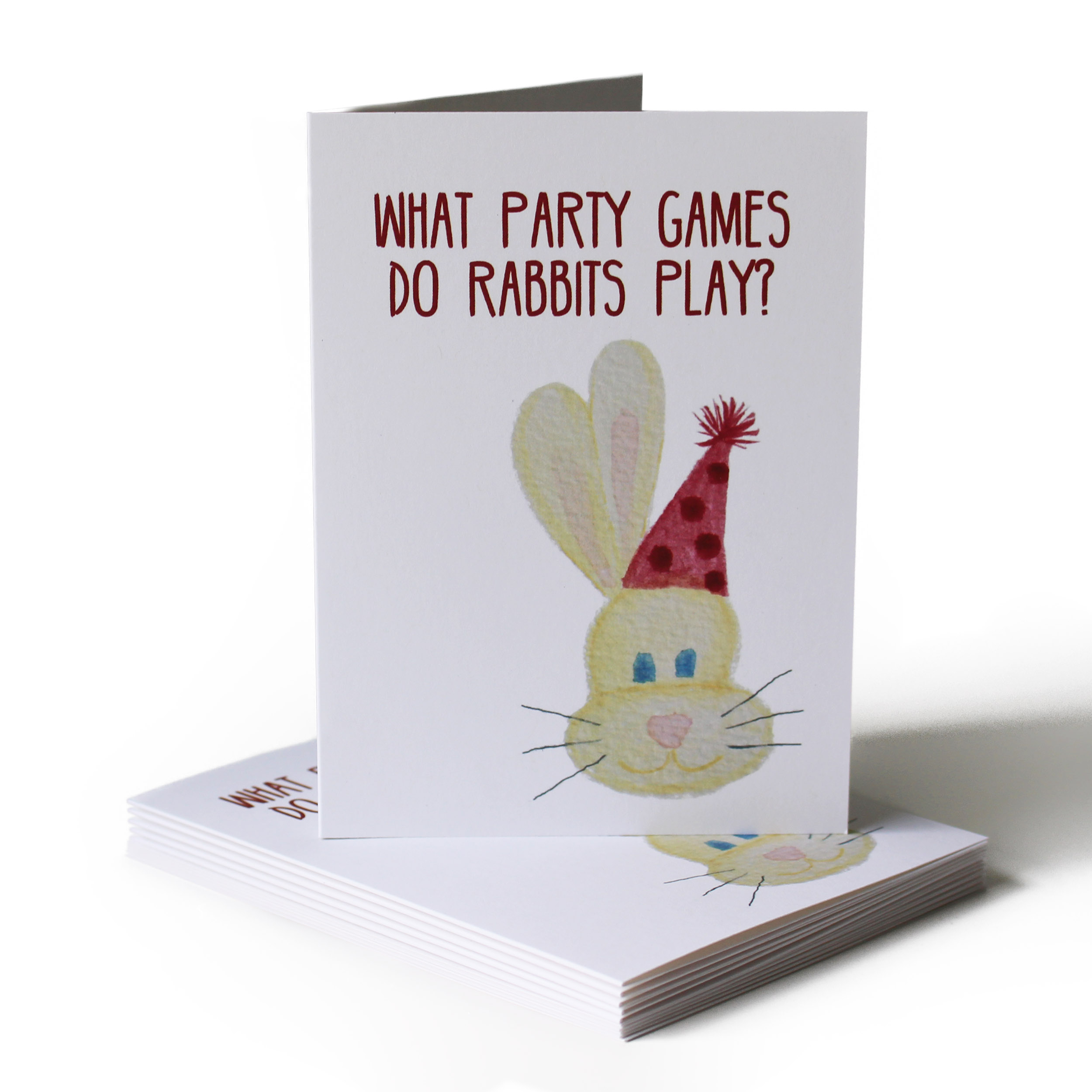 Rabbit Joke Birthday Greeting Card