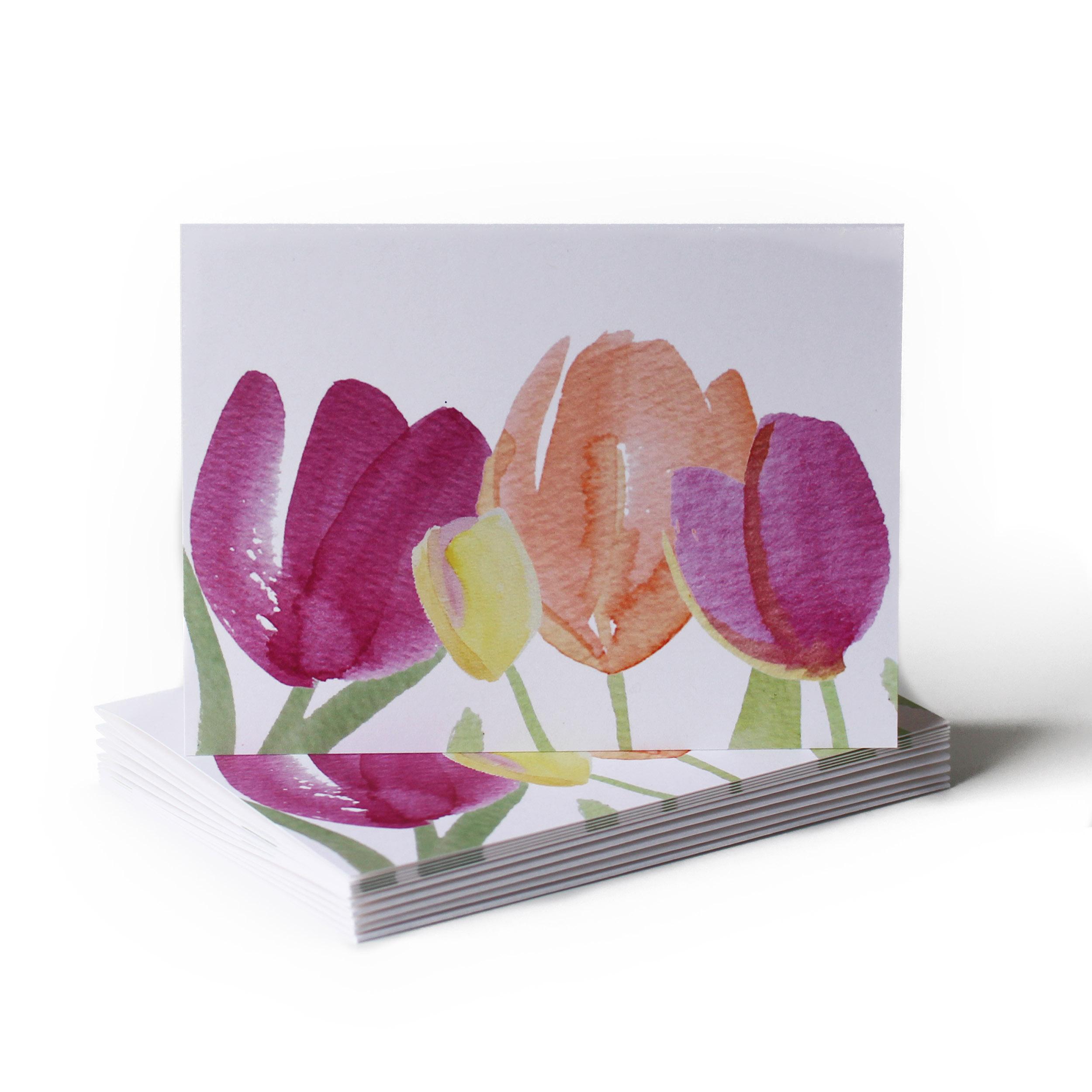 Tulip Garden Just Because Greeting Card