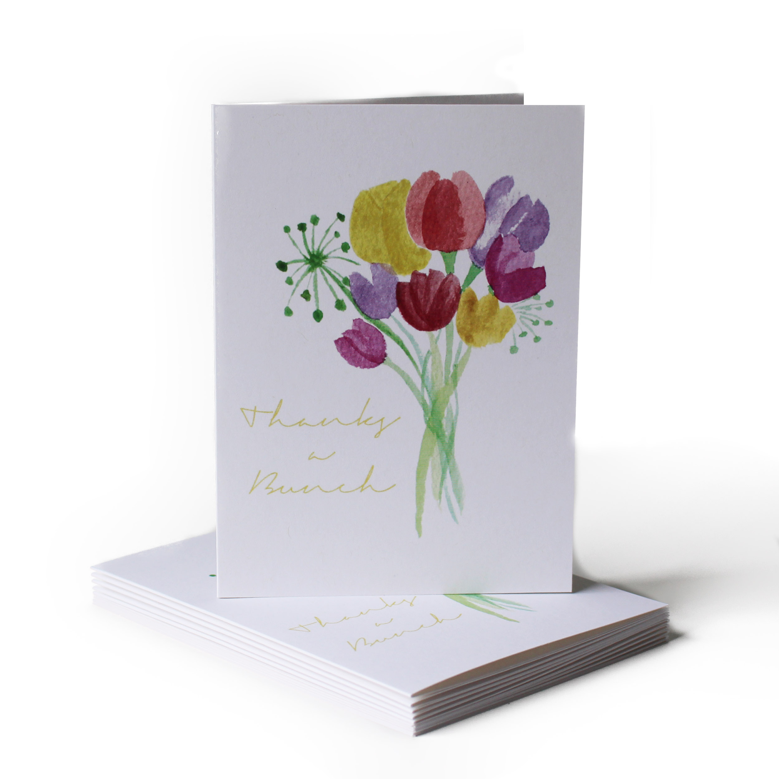 Thanks a Bunch Thank You Greeting Card
