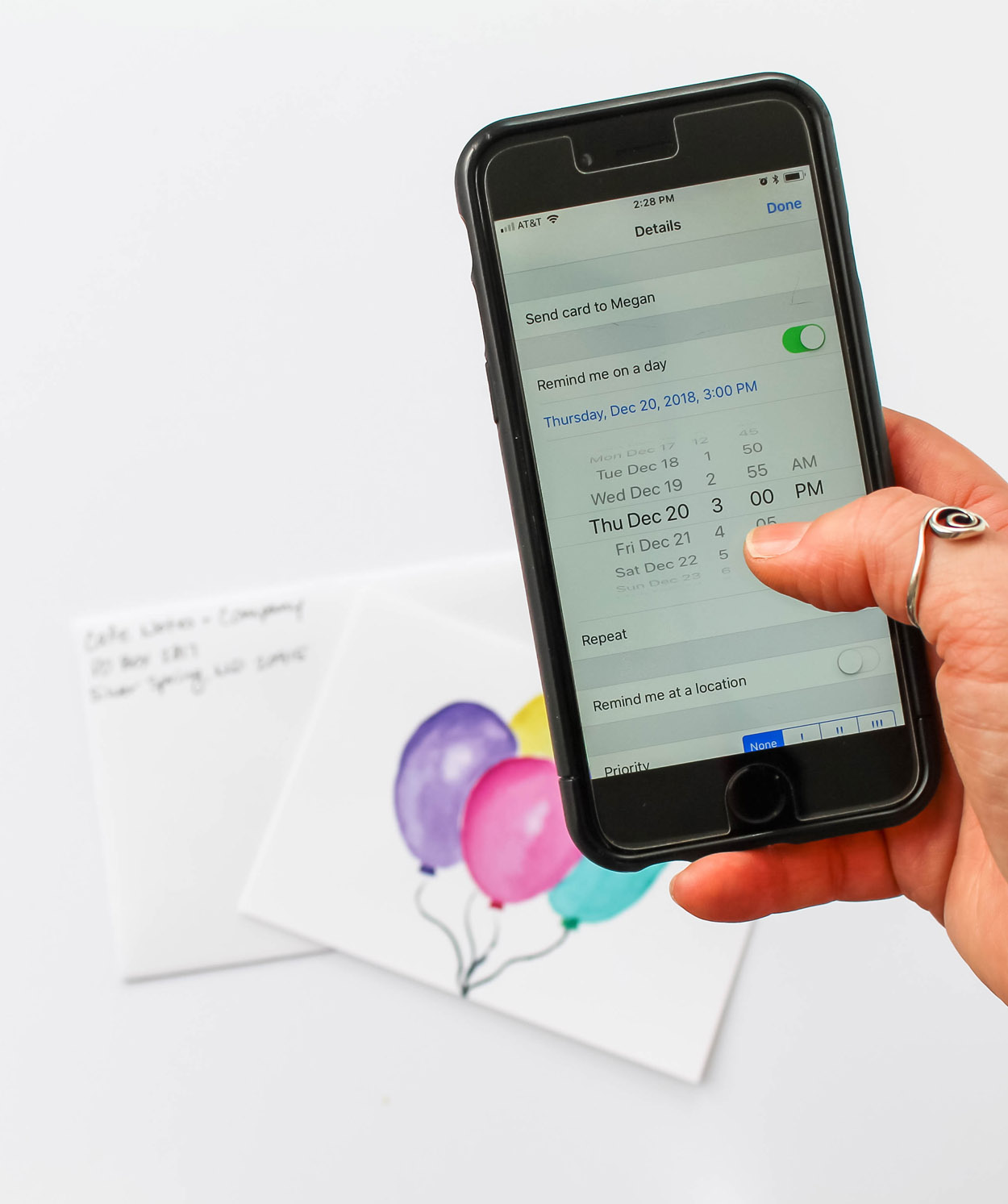 Cafe Notes + Company How To Never Miss an Important Date Tech Tools - Phone and Cards.jpg