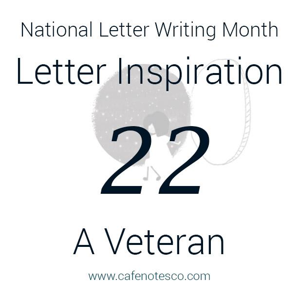 Cafe Notes + Company April Letter Challenge 22 - A Veteran.jpg