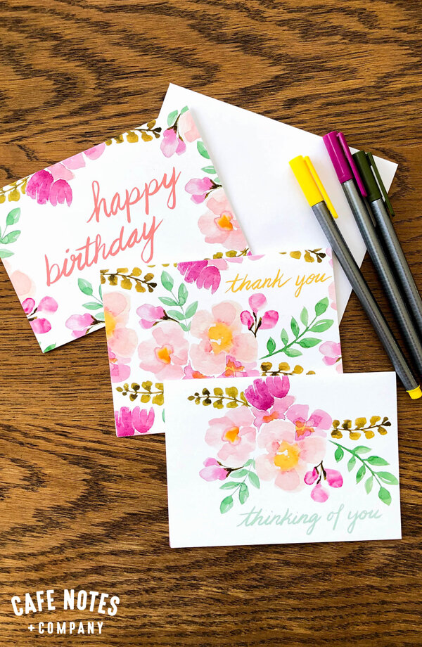 ideal for Birthdays Thank You Cards... Note Cards Set Pack of 3 Floral Blank Greeting Cards \u2013 Original and Handmade Flower Photography
