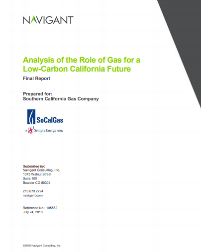 Analysis of Ghg reductions from socalgas' electric appliances vs. rng fueled appliances