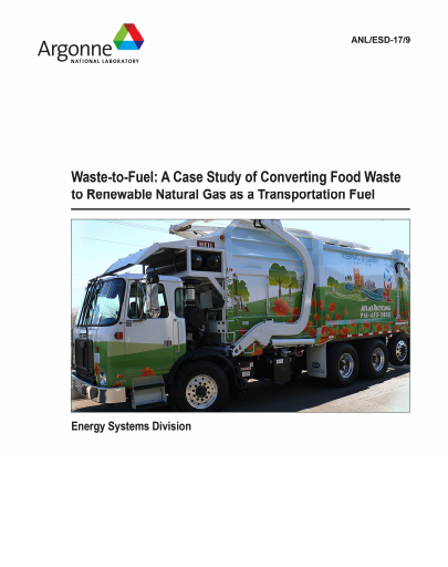 Study: creating a closed-loop organic waste-to-vehicle fuel project
