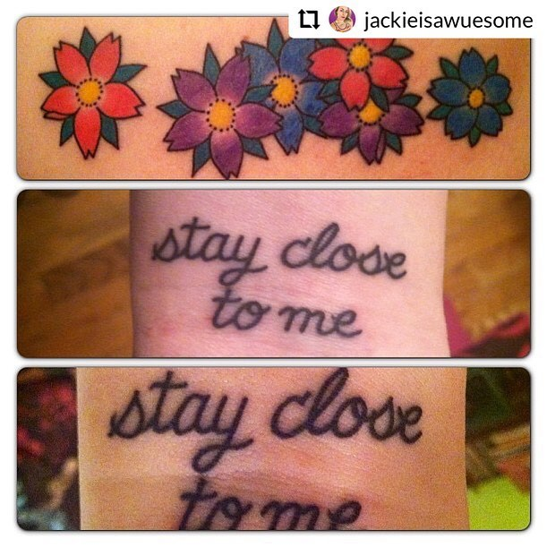 Stay dose... I mean Stay close to me.  #tattoos are this weeks topic for the gals and we have FUN talking about all types of ink including our very own @jackieisawuesome pieces. 🔗in bio🌸subscribe @applepodcasts