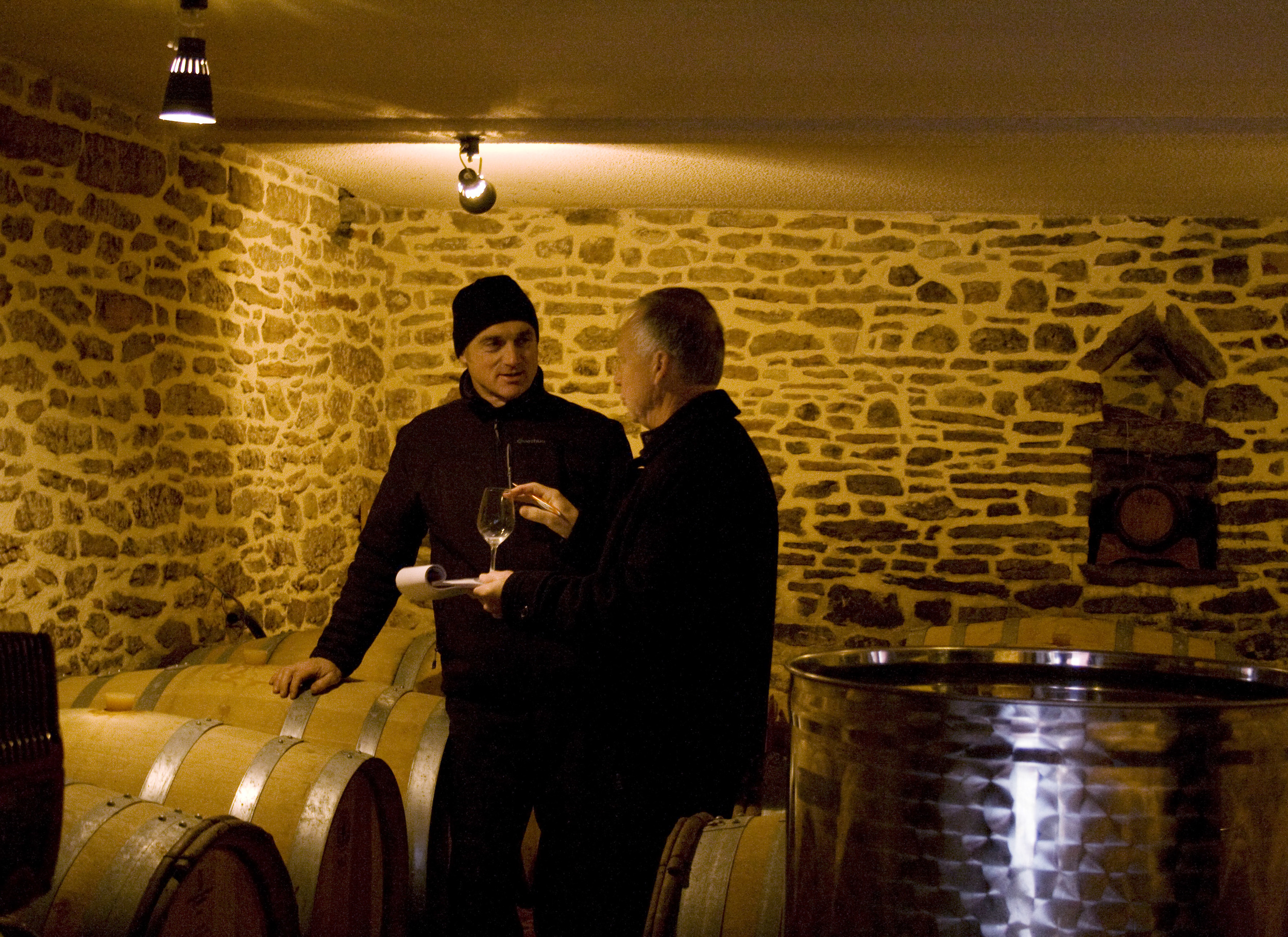 Rollet and Peter in cellar.jpg