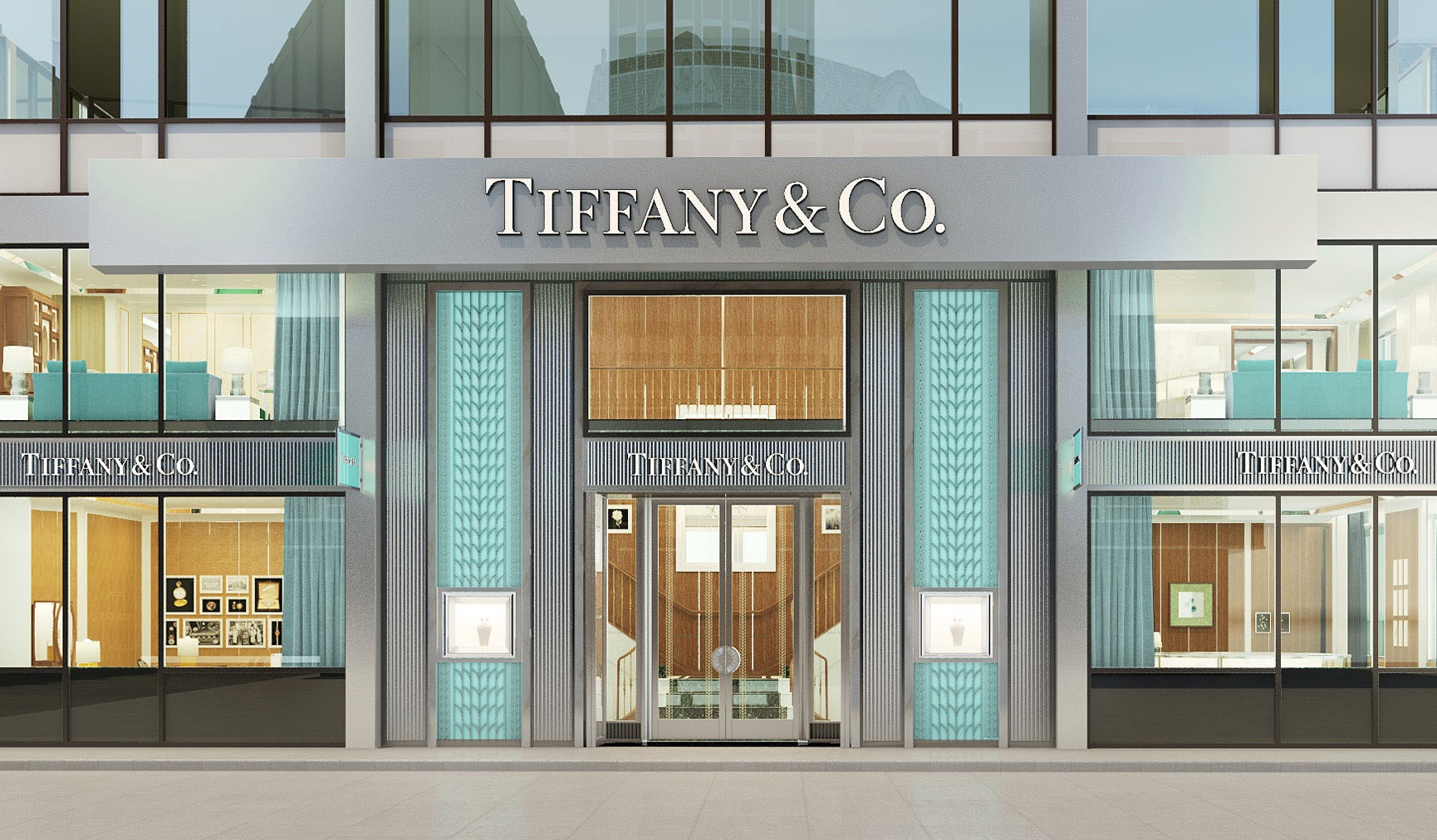 Tiffany & Co.stores open for at least one year saw a decrease of 5% in sales. Image via tiffany.com.