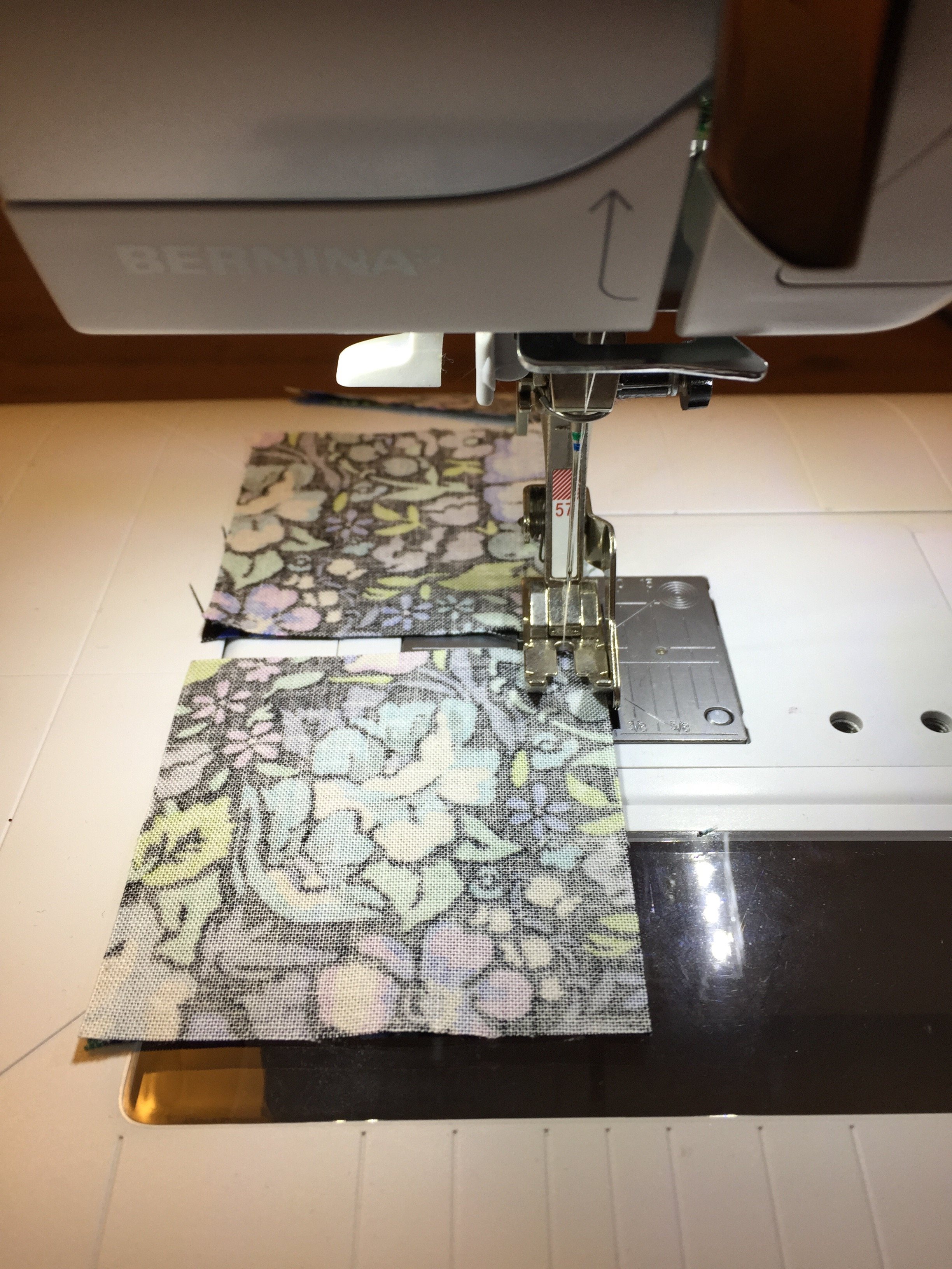 Chain piecing squares