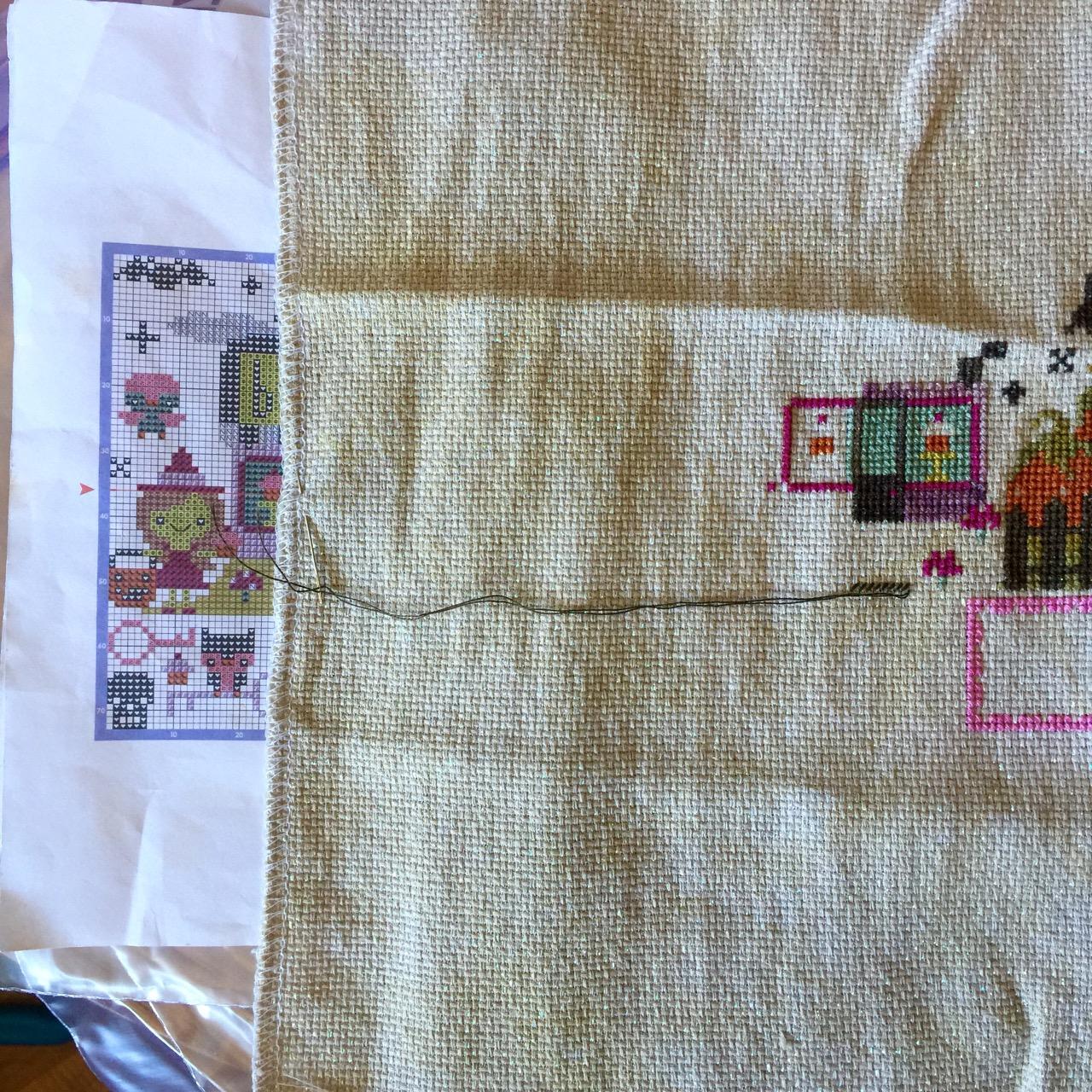 How I make cross stitch work in my fringe minutes