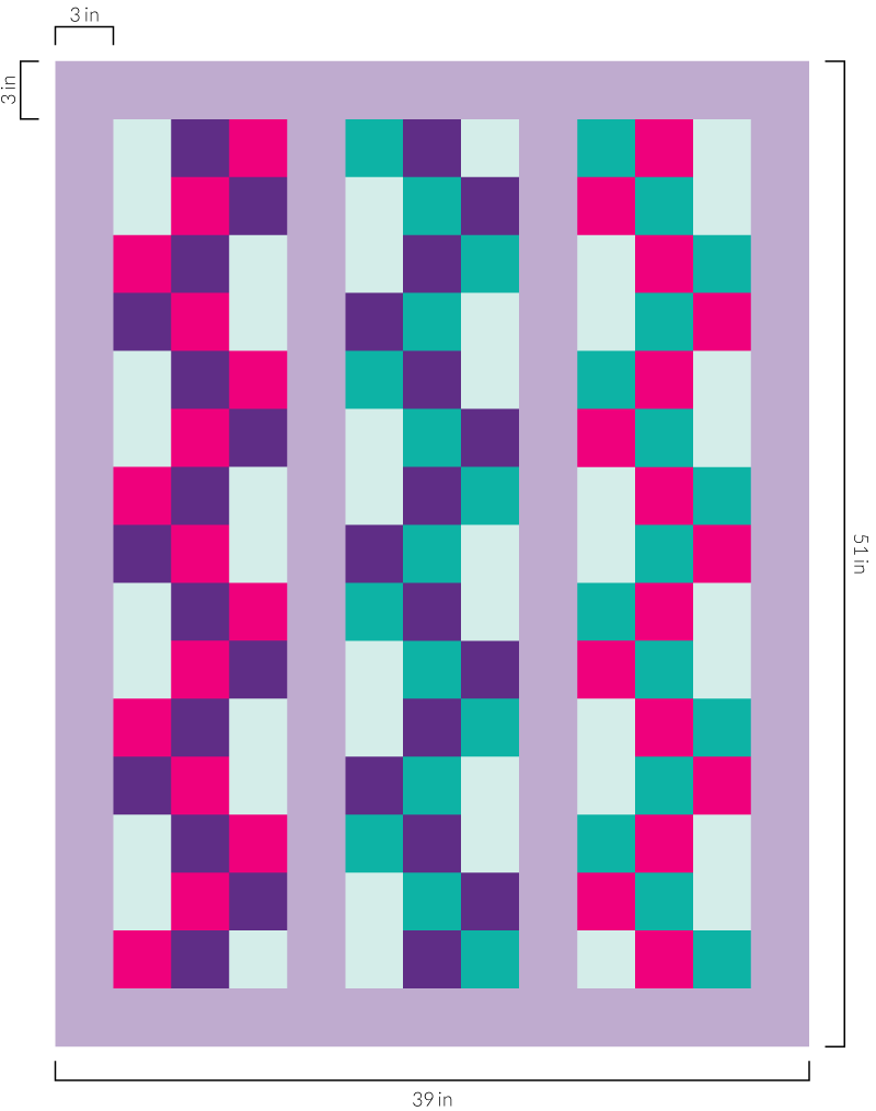 Step by step quilt top design process - Braided 9 Patch -Use the  Quilty Math Workbook to calculate the finished quilt size plus figure out exactly how much fabric you need to make this quilt.