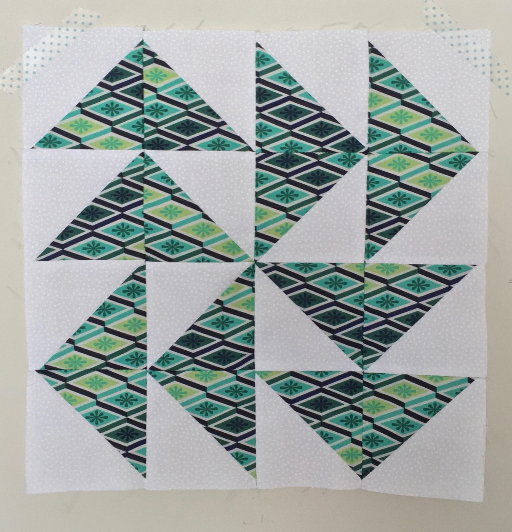 Dutchman's Puzzle  Half Square Triangle Quilt Block