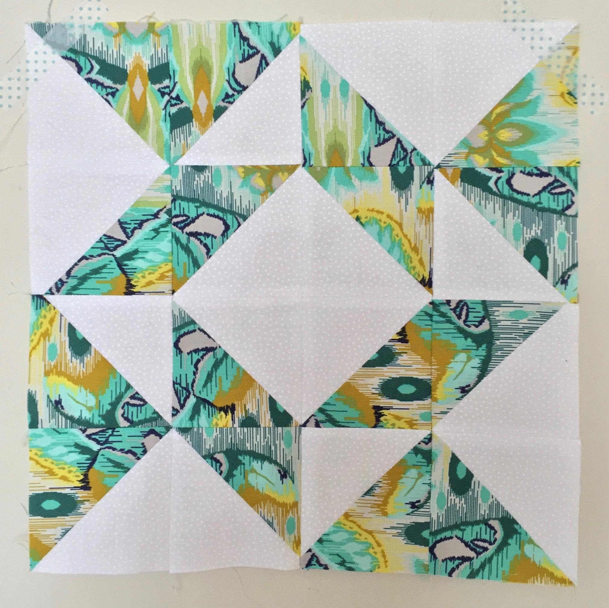Whirlpool  Half Square Triangle Quilt Block