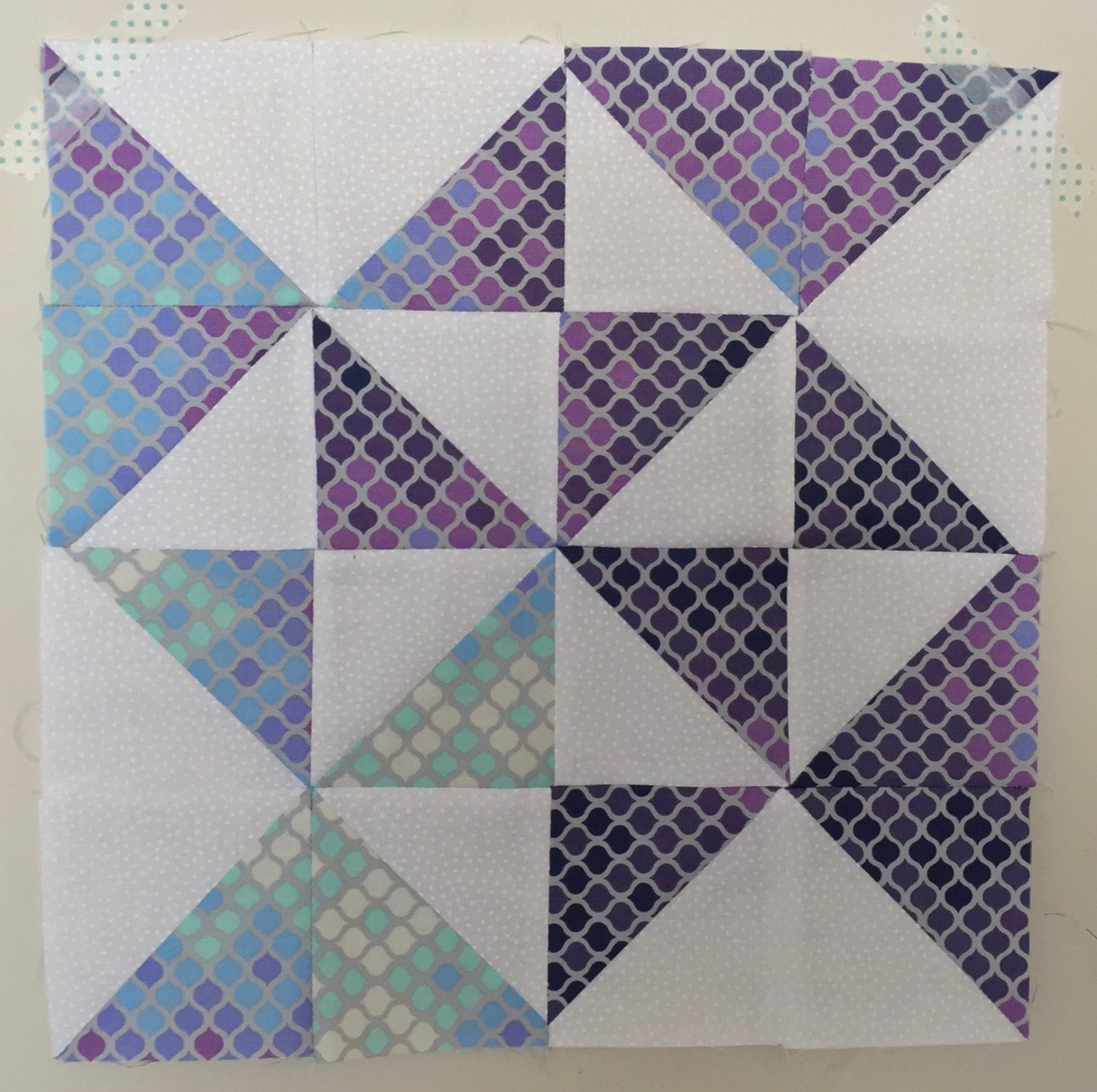 Peace and Plenty  Half Square Triangle Quilt Block