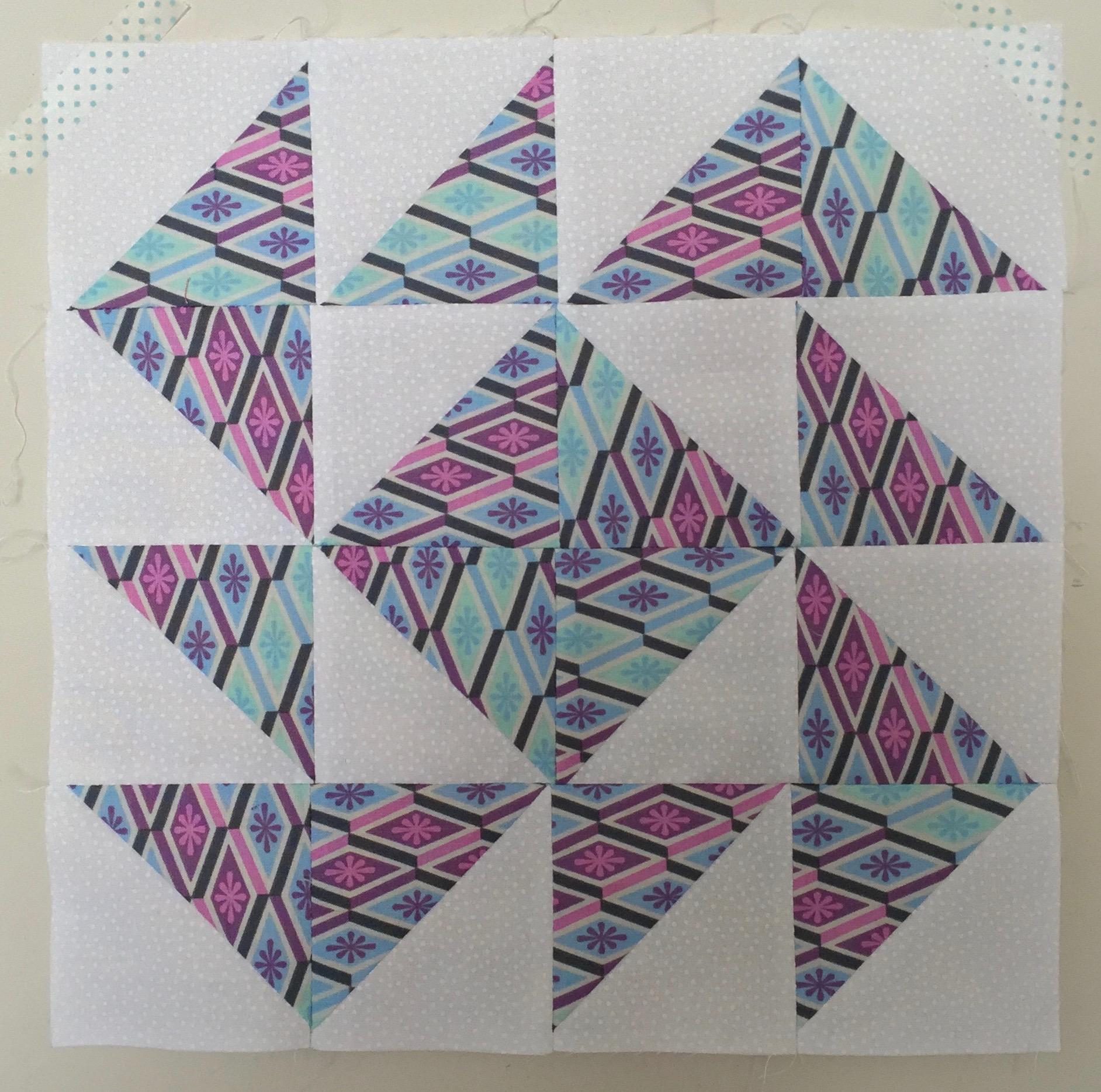 Yankee Puzzle (variation) Half Square Triangle Quilt Block