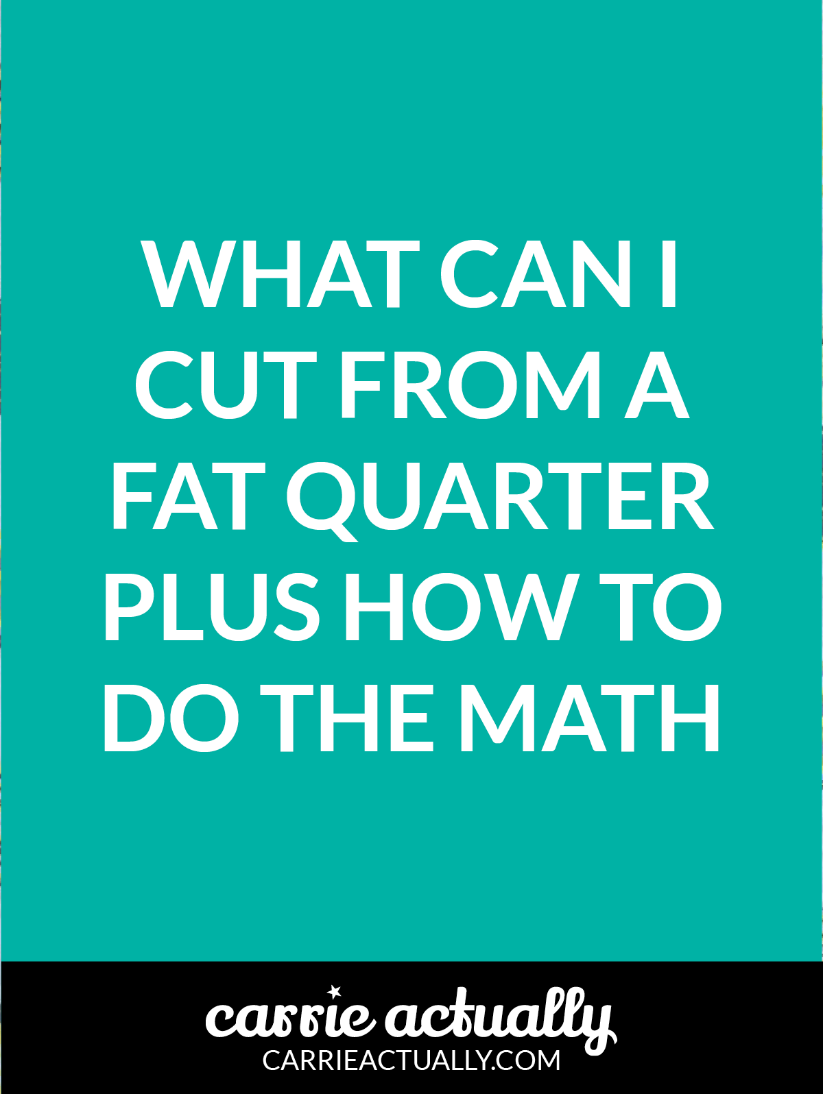What can I cut from a fat quarter plus how to do the math | This post contains a chart that shows how many of each full inch size square and rectangle pieces you can rotary cut from a fat quarter.