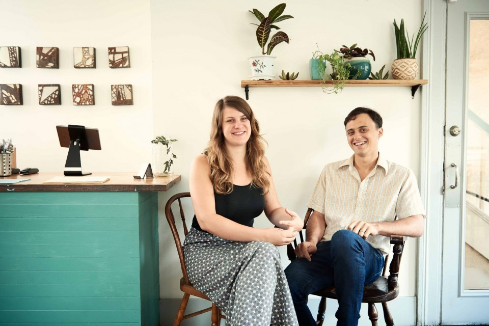 Gavin Cady, 26, and Theresa Galli, 27, chefs/owners of 1000 Figs. (Photo by Craig Mulcahy)