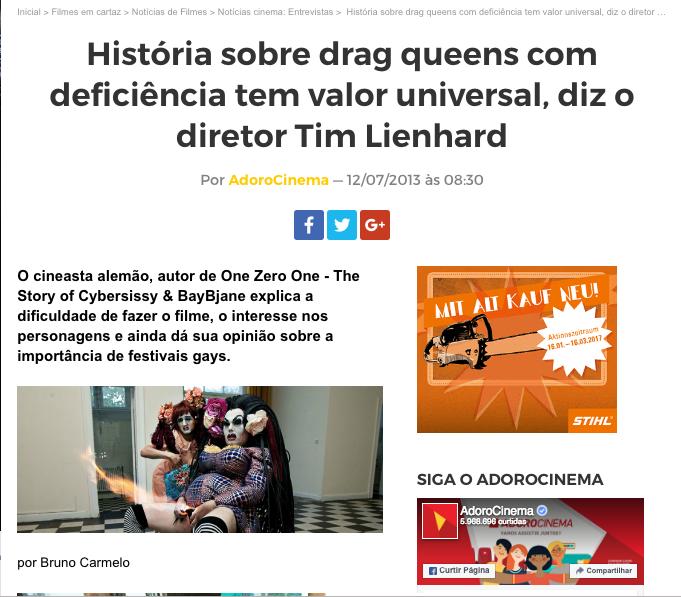 Adoro Cinema - Brasilian Magazine