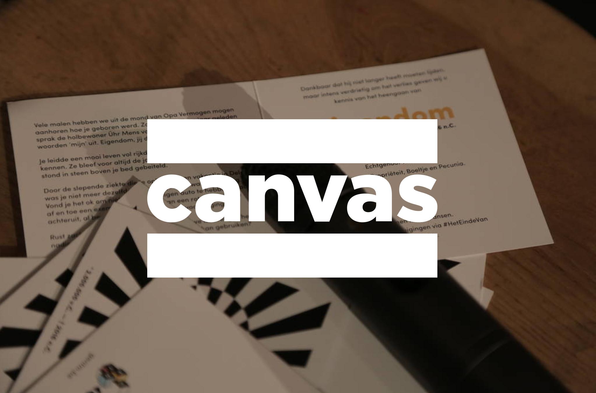 Het verslag van Canvas over het einde van eigendom.