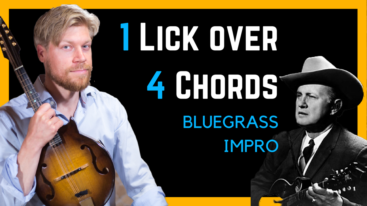 Bluegrass Licks for improvisation