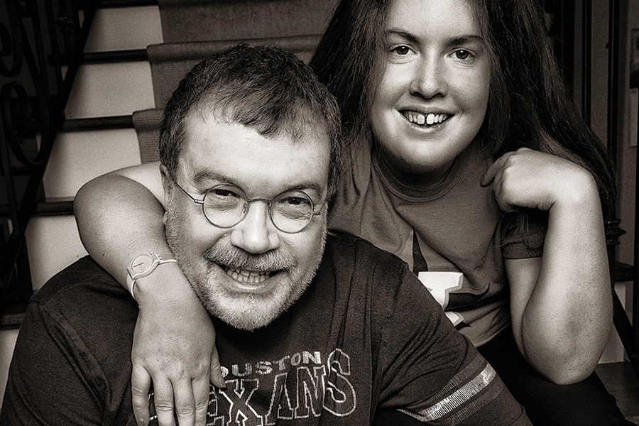 Peter Hotez poses with his daughter, Rachel, in their Montrose home. (Credit: Copyright 2017 Brian Goldman/Goldman Pictures)