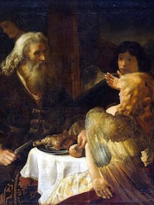 Abraham and three visitors