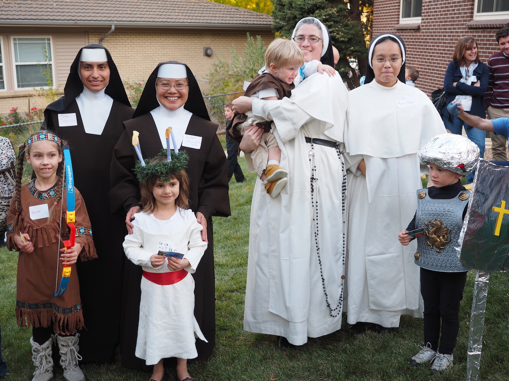 Costume contest winners at Feast of All-Saints
