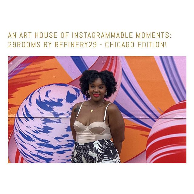 Picture perfect and totally Instagram-worthy, @refinery29 #curated this #traveling #art house installation for those who were looking to #create a moment. Check out my experience in the blog! ((Link in bio)) . . . . #refinery29 #29rooms #thegldnlife #workremote #wework #chicagofashion ##blackgirlmagic #curlyinthecity #plussizefashion #instagrammable #blackgirlsblog #blogger