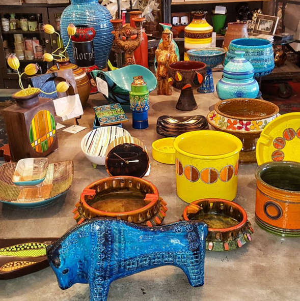 Vintage Mid-Century Modern Pottery carefully collected and acquired by Hilaman and Co. Showcasing mostly Italian Mid-Century pottery, each piece is original and authenticated. Add a piece of beautiful antiquity to your home decor.